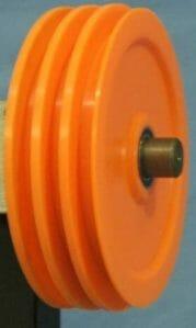 plastic and aluminum pulleys